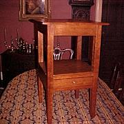 Appalachian Hepplewhite Work Table Night Stand C.1800