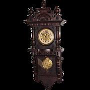 """German Regulator Wall Clock  """"Junghans"""" late 1800's"""