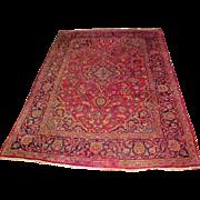 "Oriental Persian Rug 4' 6"" X 6' 11"" C. 1940"