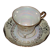 Translucent  teacup and saucer