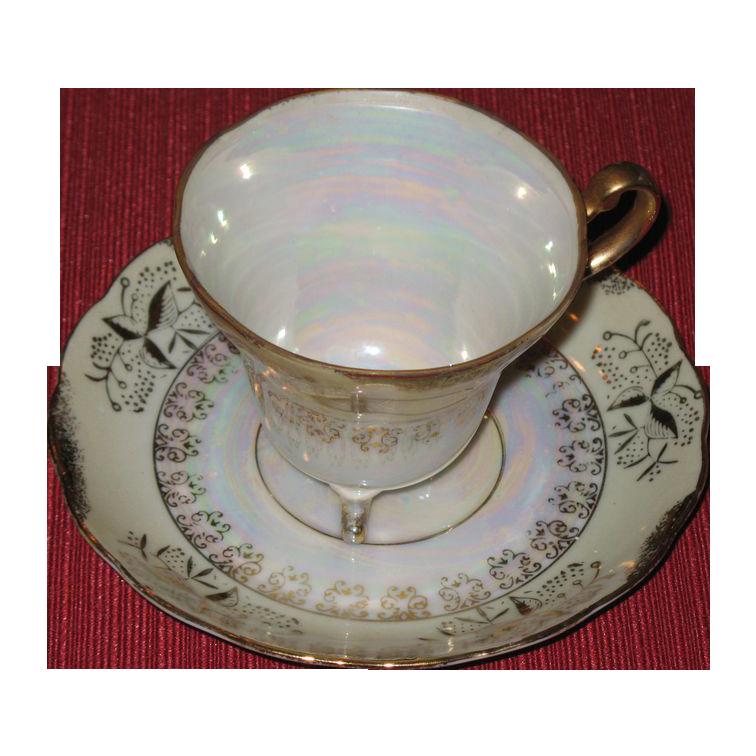 Translucent  teacup and saucer