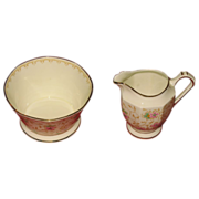SALE Miniature pitcher and berry bowl  Made in England