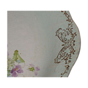 SALE Gorgeous Harker Pottery Co plate  Hydrangeas and Violets