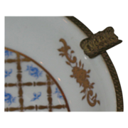 SALE Gorgeous Limoges ashtray  Brass and gilt gold