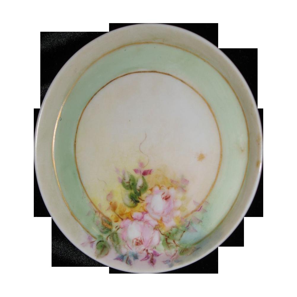 Miniature, plate Handpainted