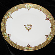 SALE Nippon  plate gilt border with grapes