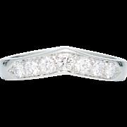 SALE Vintage Tiffany & Company 0.49ct Diamond Wedding Band in Platinum
