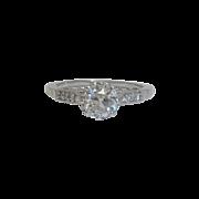 SALE English Edwardian Platinum & 1.60ct VVS Diamond Ring