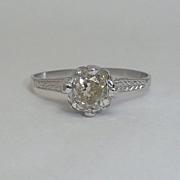 Edwardian 1.10ct Diamond Engagement Ring in Platinum
