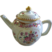 Antique Chinese Qianlong Famille Rose Tea Pot  Late 18th Century