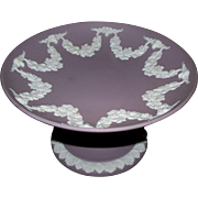 Vintage Wedgwood Jasperware Lilac Tazza with Ram's Heads & Grape Swags..    never used