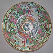 SOLD Antique Chinese Rose Famille Medallion Bowl circa 1870