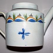 SOLD Antique Leeds Pearlware Miniature hand-painted Tea Pot circa 1820