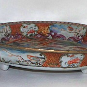 Antique Chinese Mandarin Bowl on Stand   circa 1770