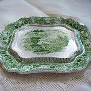 "SOLD Antique T. Mayer ""Canova"" Pearlware Tray  Stoke -Upon -Trent    circa 1830"