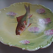 "Limoges France Fish Platter  Hand-Painted   11""   ca. 1910   FELIX!"
