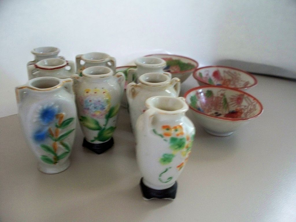 15 Vintage Japanese Nippon Porcelain Small Items