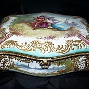 """Antique French Porcelain Box  """"Bourdois & Achille Bloch"""" ca.1885"""