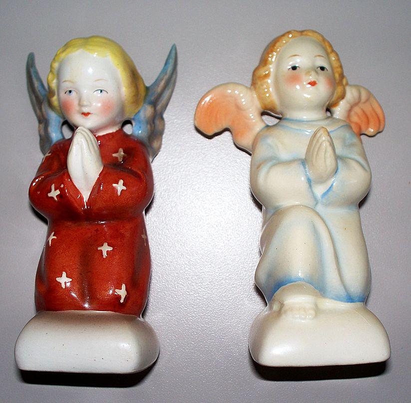 "Pair of GOEBEL Hummel ""ANGELS"" Blue Full Bee TMK-2 Circa 1950's"