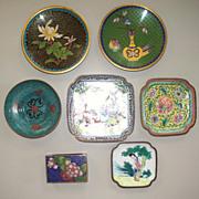 8 Chinese Enamel & Cloisonne Items