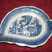 Chinese Canton Leaf Dish  ca.1780
