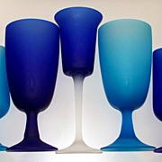 Vintage Italian Murano Frosted Glassware  circa 1960's