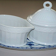 Royal Copenhagen Tray Creamer & Sugar  ca.1970  Perfect New