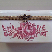 Antique French Faience Veuve Perrin Box  Large..