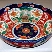Antique Japanese Imari Bowl Edo/Meiji Period w/Chimera/Foo Dogs/Lions