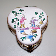 """Antique French Faience Veuve Perrin """"Chinoiserie""""  ca. 1780 perfect"""
