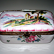 """Lovely French Faience  """"Veuve Perrin""""  Box 18th century   Perfect"""