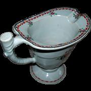 SOLD Antique Chinese Porcelain Helmet Pitcher Raised Enamels ca. 1820
