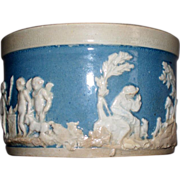 Antique Staffordshire Enoch Wood & Sons Pearlware Cup winged Cherubs & Dogs ca.1820