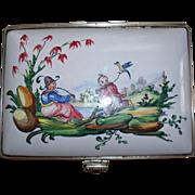 "Antique French Faience Edme Samson et Cie ""Veuve Perrin"" Large Dresser Chinoiserie B"