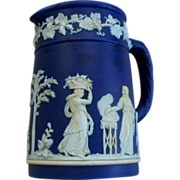 Antique Wedgwood Cobalt Jasperware Pitcher  circa 1900