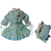 "Exquisite tiny french Couturier Bebe Dress Hat for 12-13"" antique cabinet sized doll"