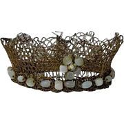 Couture Crown for antique french bebe or wax cabinet size doll