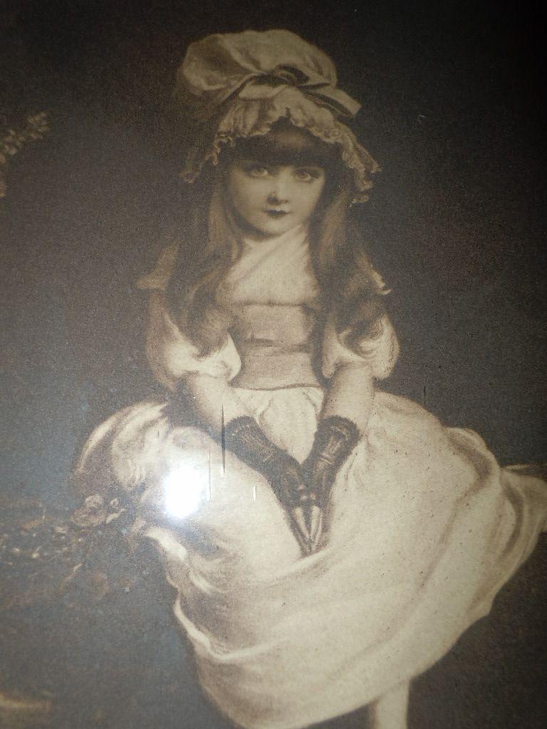 Antique  Framed Print  Lithograph  Cherry Ripe 1879 by John Everett Millais