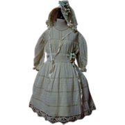 SOLD Antique Original crepe Dress Bonnet for huge german french bisque doll