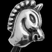 Vintage Taxco Mexico Mexican Sterling Silver Horse Button Aguilar Book Piece