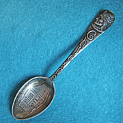 Gorgeous CHICAGO PUBLIC LIBRARY Signed Sterling Silver Antique Souvenir Spoon