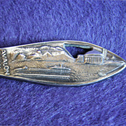 Gorgeous CATALINA ISLAND Sterling Silver Vintage Estate Souvenir Spoon