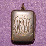 Fabulous Antique Sterling Silver Engraved Locket