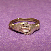 Awesome BETROTHAL Vintage Fede Gimmel Ring