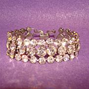 Fabulous RHINESTONE Vintage Estate Wide Bracelet