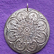 1978 TOWLE STERLING Christmas Medallion Vintage Ornament