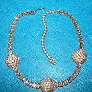 Fabulous RHINESTONE Vintage Estate Necklace