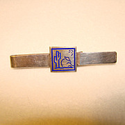 Awesome MEXICAN STERLING & Enamel Siesta Tie Bar Clip