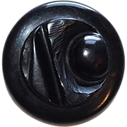 SOLD Gorgeous Carved Bakelite Abstract Moon Vintage Estate Button