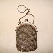 Fabulous Antique Mesh Design DOLL or Finger Purse